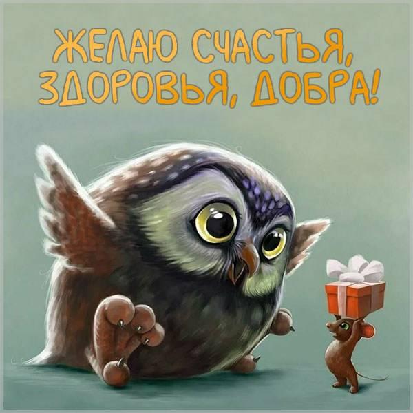 Открытка желаю счастья здоровья добра - скачать бесплатно на otkrytkivsem.ru