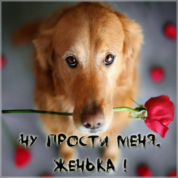 Открытка Женька прости меня - скачать бесплатно на otkrytkivsem.ru