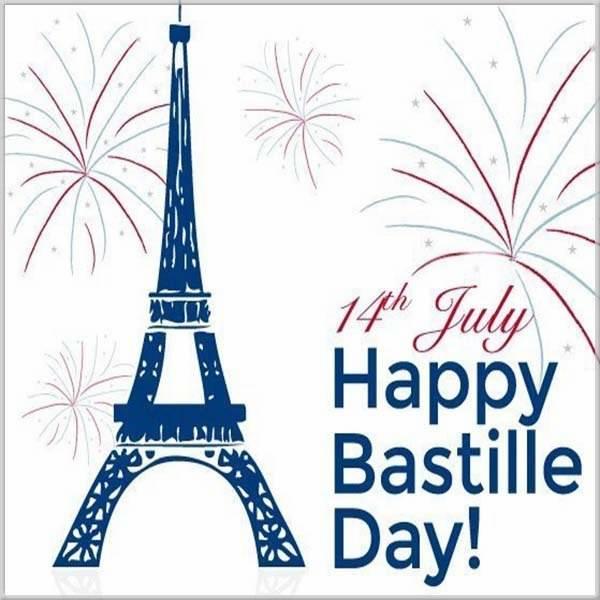 Поздравительная картинка с днем взятия Бастилии - скачать бесплатно на otkrytkivsem.ru
