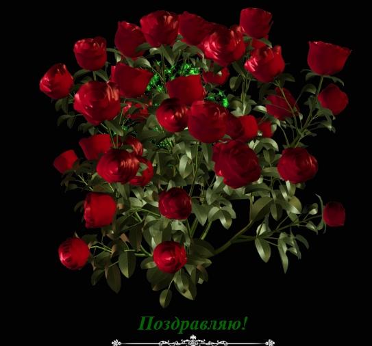 Поздравительный букет из роз - скачать бесплатно на otkrytkivsem.ru