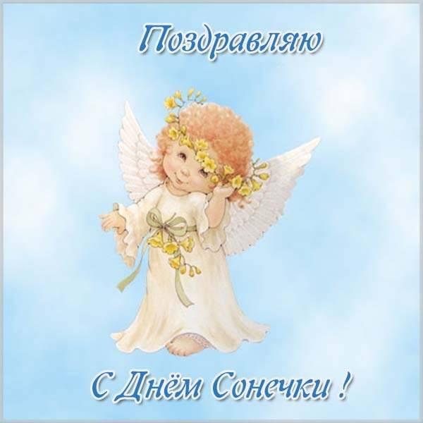 Поздравление с днем Сонечки в картинке - скачать бесплатно на otkrytkivsem.ru