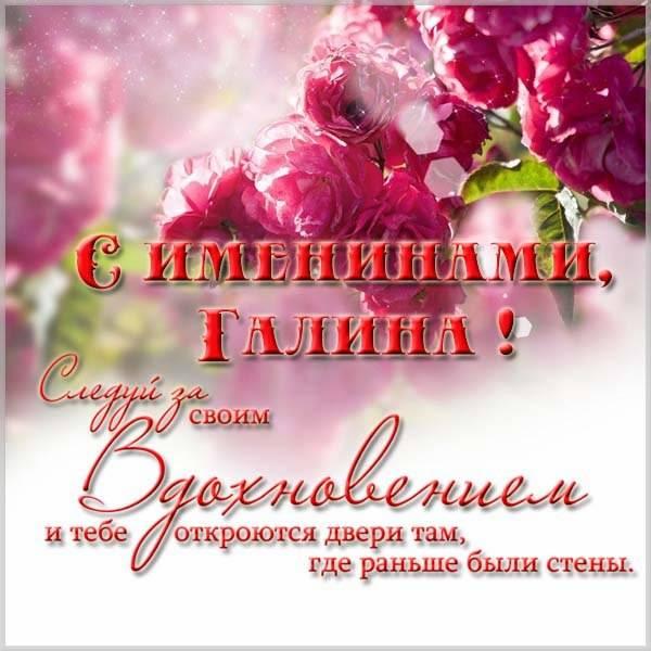 Поздравление с именинами Галины в картинке - скачать бесплатно на otkrytkivsem.ru