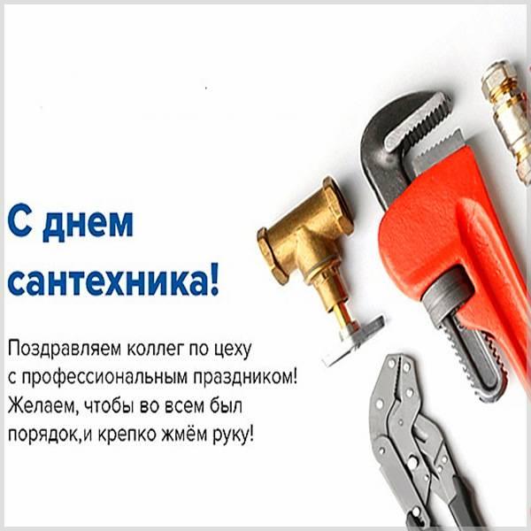 Поздравление в картинке с днем сантехника - скачать бесплатно на otkrytkivsem.ru