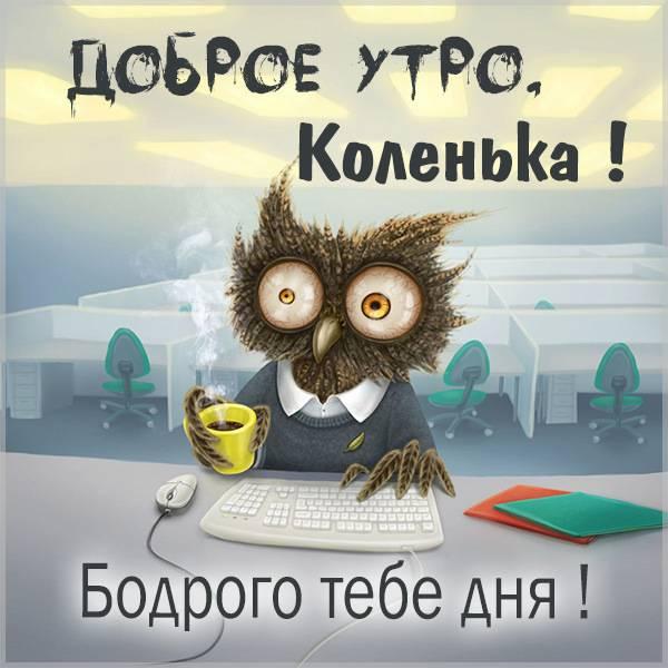 Пожелание доброе утро Коленька в картинке - скачать бесплатно на otkrytkivsem.ru