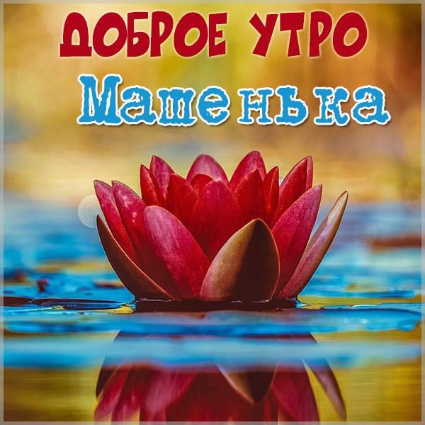 Пожелание доброе утро Машенька в картинке - скачать бесплатно на otkrytkivsem.ru