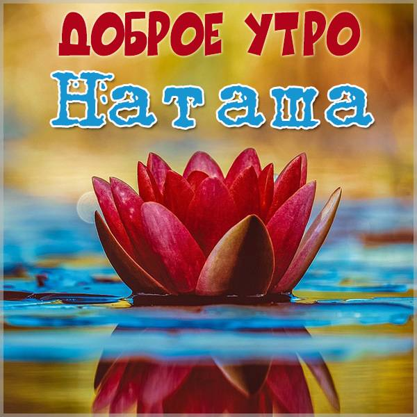 Пожелание доброе утро Наташа в картинке - скачать бесплатно на otkrytkivsem.ru