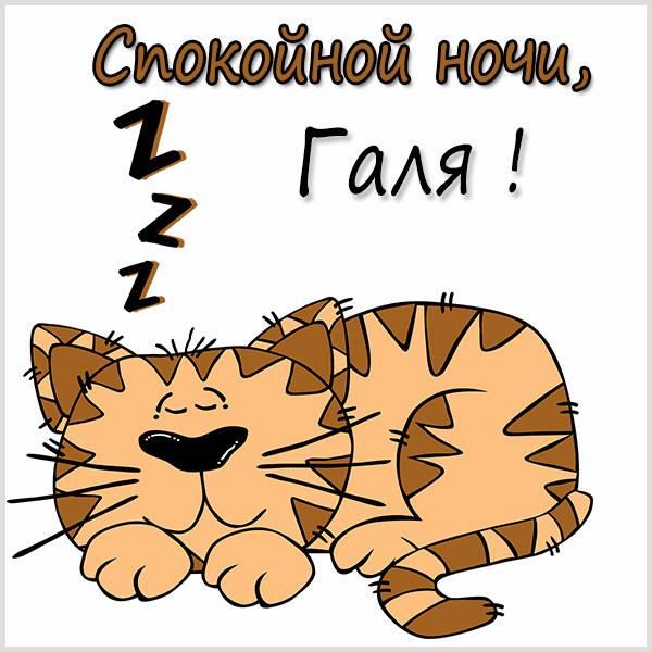 Пожелание спокойной ночи Галя в картинке - скачать бесплатно на otkrytkivsem.ru