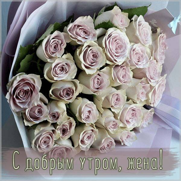 Пожелание жене с добрым утром в картинке - скачать бесплатно на otkrytkivsem.ru