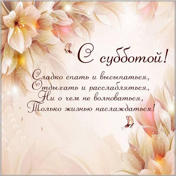 Позитивная прикольная картинка с субботой - скачать бесплатно на otkrytkivsem.ru