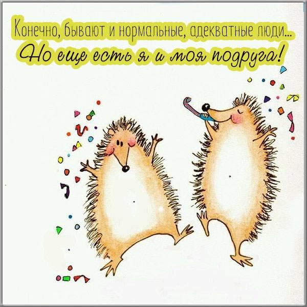 Прикольная электронная открытка для подруги - скачать бесплатно на otkrytkivsem.ru