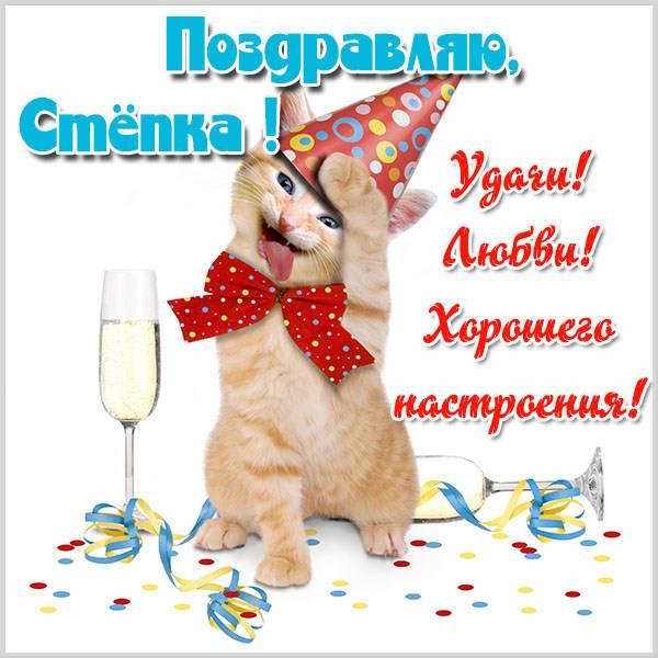 Прикольная картинка для Степки - скачать бесплатно на otkrytkivsem.ru