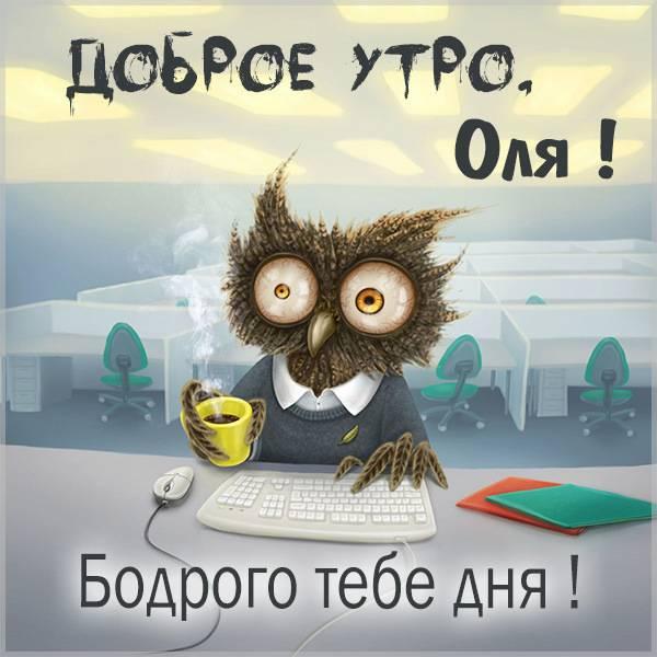 Прикольная картинка доброе утро Оля - скачать бесплатно на otkrytkivsem.ru
