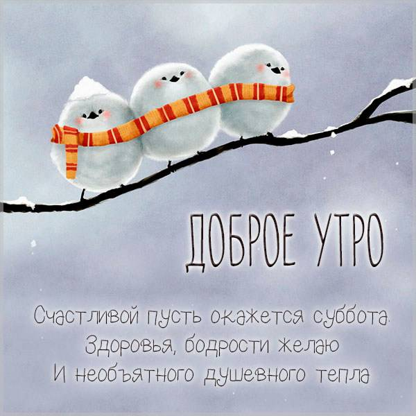 Прикольная картинка доброе утро зимняя суббота - скачать бесплатно на otkrytkivsem.ru