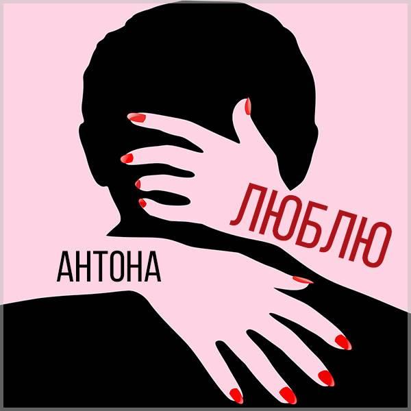 Прикольная картинка люблю Антона - скачать бесплатно на otkrytkivsem.ru