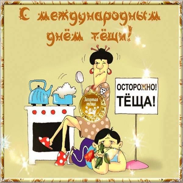 Прикольная картинка на день тещи - скачать бесплатно на otkrytkivsem.ru