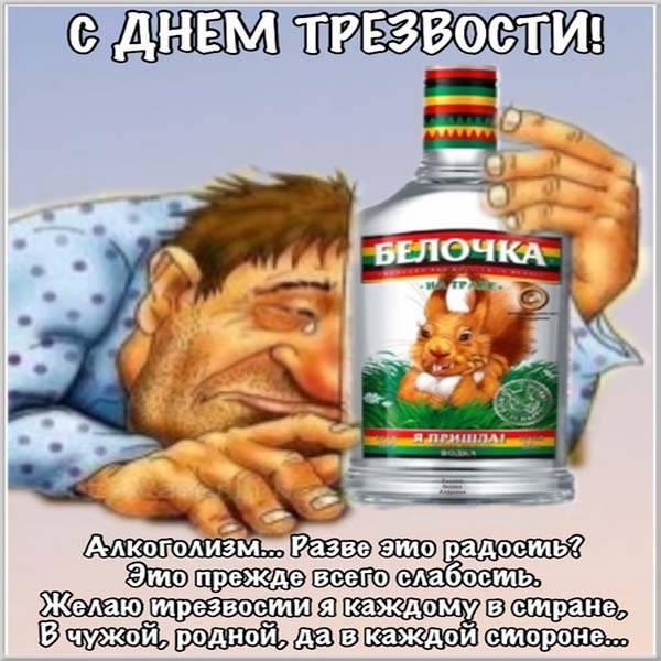 Прикольная картинка на день трезвости - скачать бесплатно на otkrytkivsem.ru