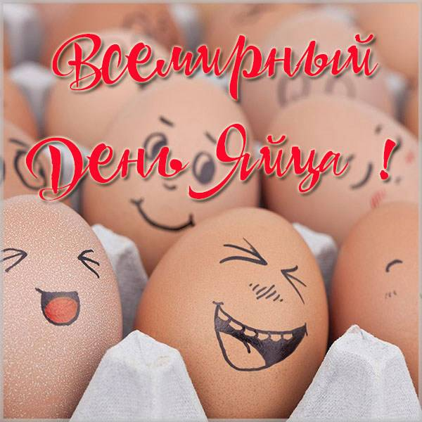 Прикольная картинка на день яйца - скачать бесплатно на otkrytkivsem.ru