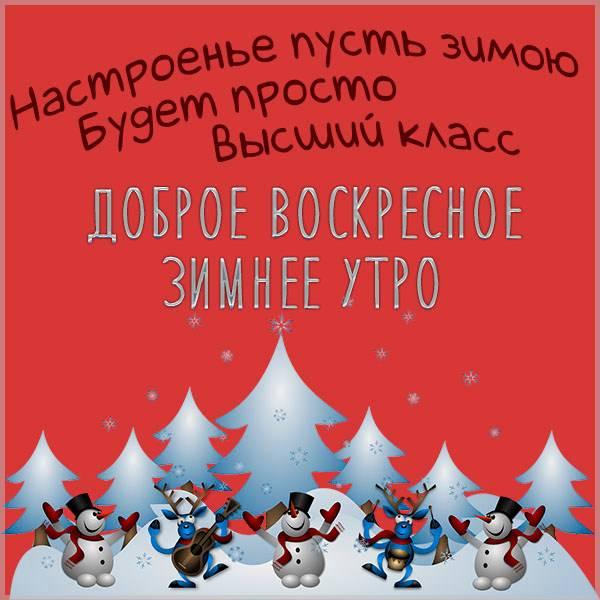 Прикольная картинка на доброе воскресное зимнее утро - скачать бесплатно на otkrytkivsem.ru