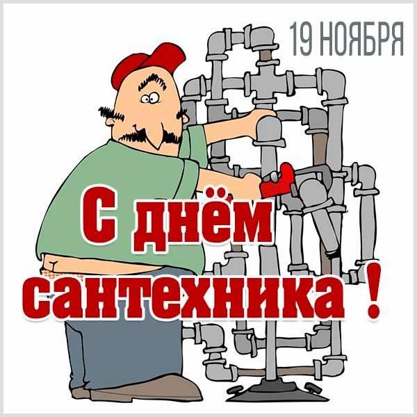 Прикольная картинка поздравление с днем сантехника - скачать бесплатно на otkrytkivsem.ru