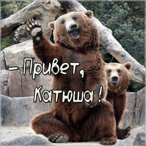Прикольная картинка привет Катюша - скачать бесплатно на otkrytkivsem.ru