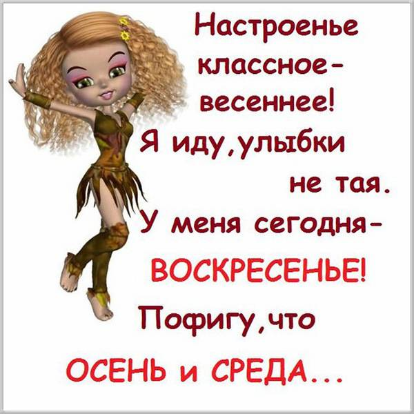 Прикольная картинка про среду с надписями - скачать бесплатно на otkrytkivsem.ru
