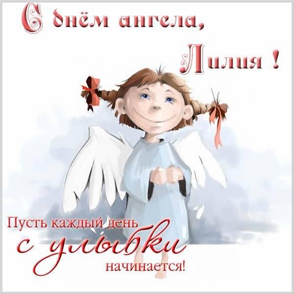 Прикольная картинка с днем Лилии - скачать бесплатно на otkrytkivsem.ru
