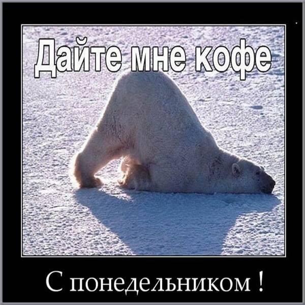 Прикольная картинка с добрым понедельником - скачать бесплатно на otkrytkivsem.ru