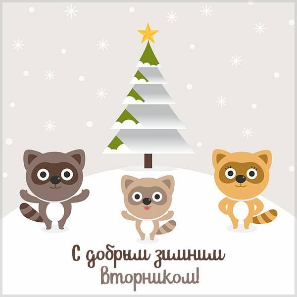 Прикольная картинка с добрым зимним вторником - скачать бесплатно на otkrytkivsem.ru