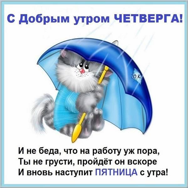 Прикольная картинка с надписью доброе утро четверга - скачать бесплатно на otkrytkivsem.ru