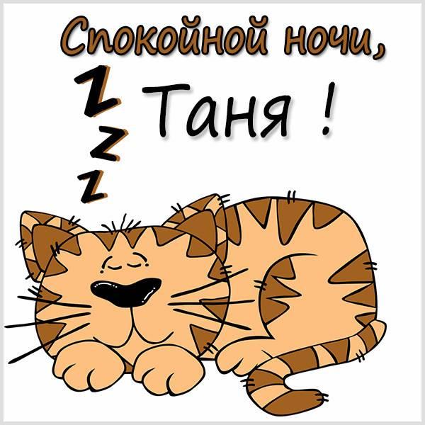 Прикольная картинка спокойной ночи Таня - скачать бесплатно на otkrytkivsem.ru