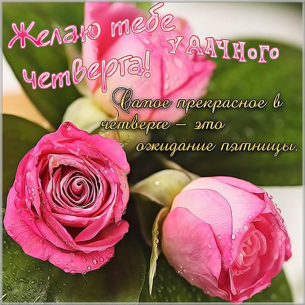 Прикольная картинка удачного четверга - скачать бесплатно на otkrytkivsem.ru