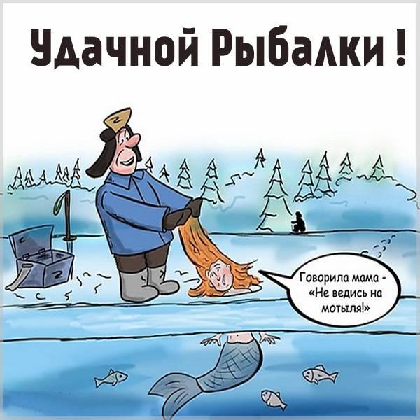Прикольная картинка удачной рыбалки - скачать бесплатно на otkrytkivsem.ru