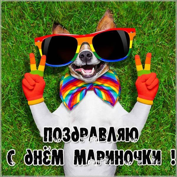 Прикольная открытка с днем Мариночки - скачать бесплатно на otkrytkivsem.ru