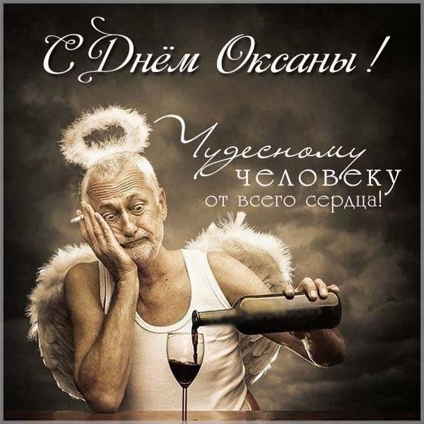 Прикольная открытка с поздравлением с днем Оксаны - скачать бесплатно на otkrytkivsem.ru