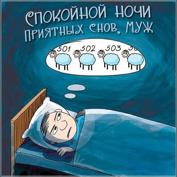 Прикольная открытка спокойной ночи мужу от жены - скачать бесплатно на otkrytkivsem.ru