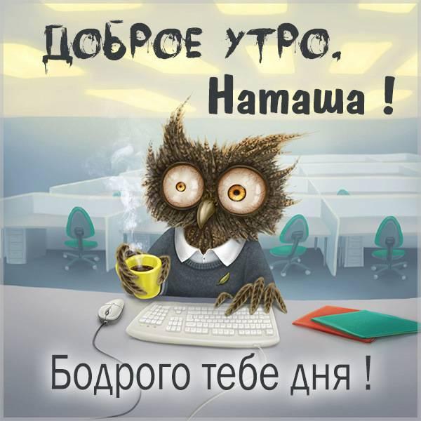 Прикольная смешная картинка доброе утро Наташа - скачать бесплатно на otkrytkivsem.ru