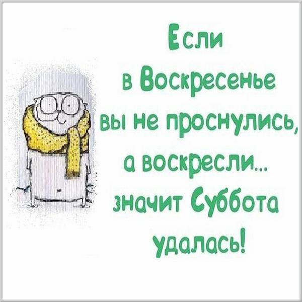 Прикольная смешная картинка про субботу для настроения - скачать бесплатно на otkrytkivsem.ru