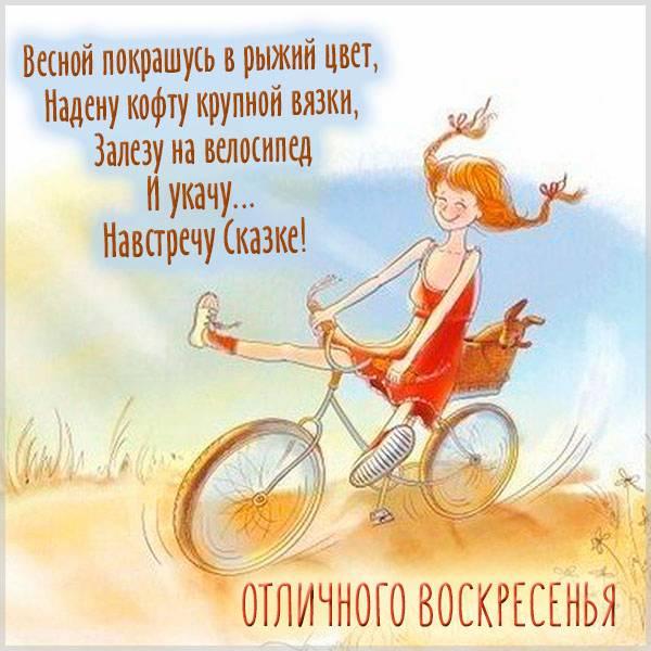 Прикольная весенняя картинка отличного воскресенья - скачать бесплатно на otkrytkivsem.ru
