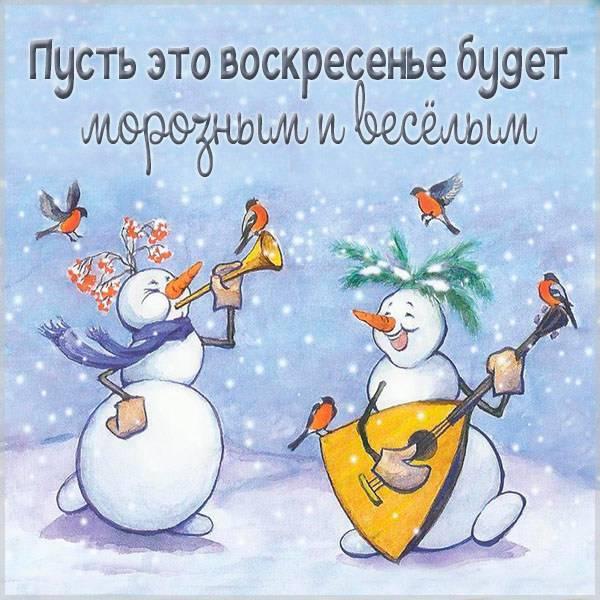 Прикольная зимняя картинка на воскресенье - скачать бесплатно на otkrytkivsem.ru