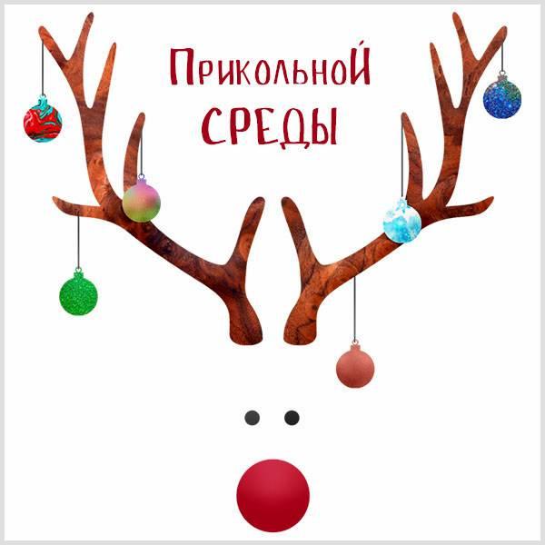 Прикольная зимняя картинка со средой - скачать бесплатно на otkrytkivsem.ru