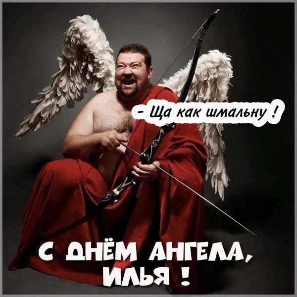 Прикольное поздравление с днем Ильи в картинке - скачать бесплатно на otkrytkivsem.ru