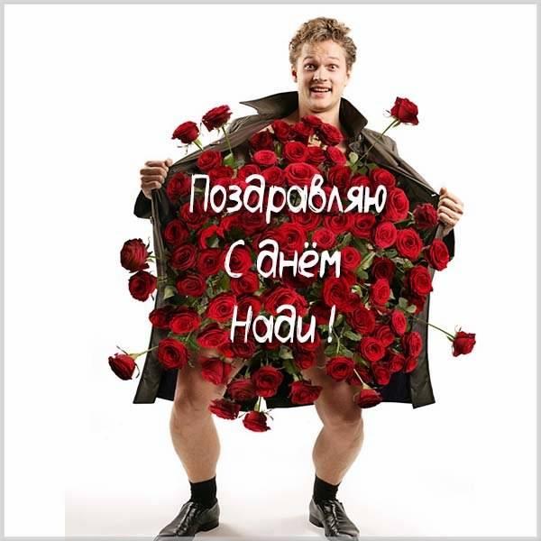 Прикольное поздравление с днем Нади в картинке - скачать бесплатно на otkrytkivsem.ru