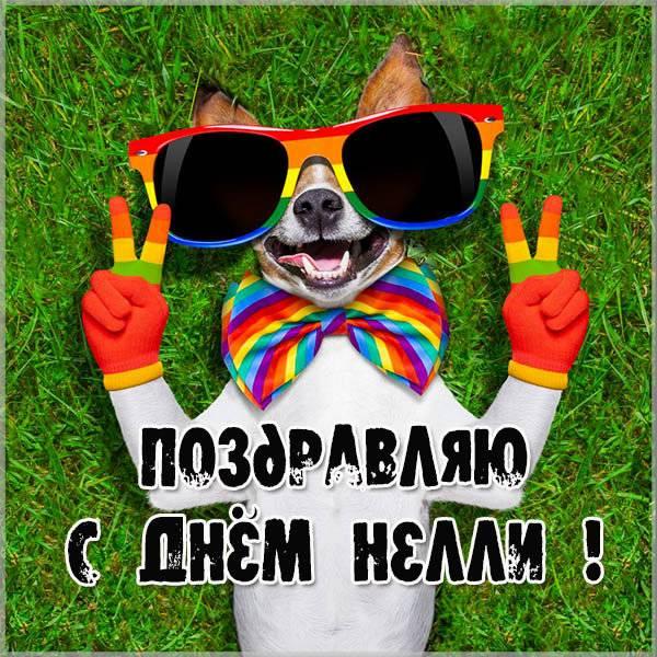 Прикольное поздравление с днем Нелли в картинке - скачать бесплатно на otkrytkivsem.ru