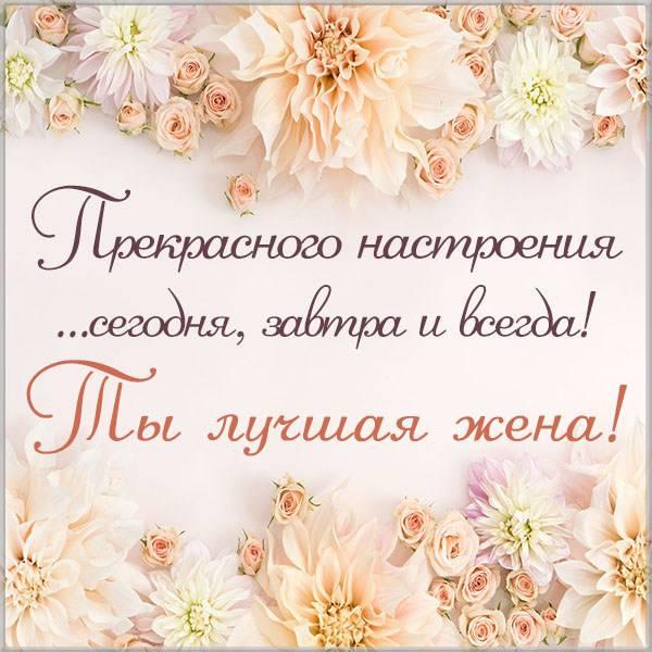 Приятная открытка жене - скачать бесплатно на otkrytkivsem.ru
