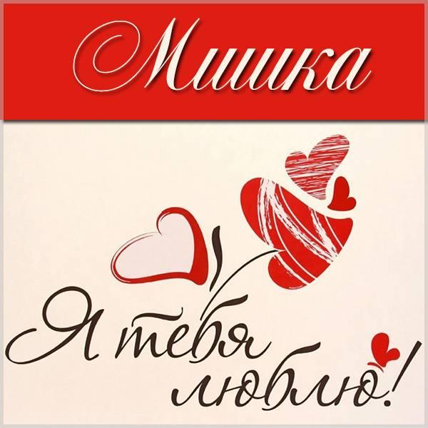 Признание Мишка я тебя люблю в картинке - скачать бесплатно на otkrytkivsem.ru