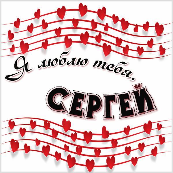 Признание Сергей я тебя люблю в картинке - скачать бесплатно на otkrytkivsem.ru