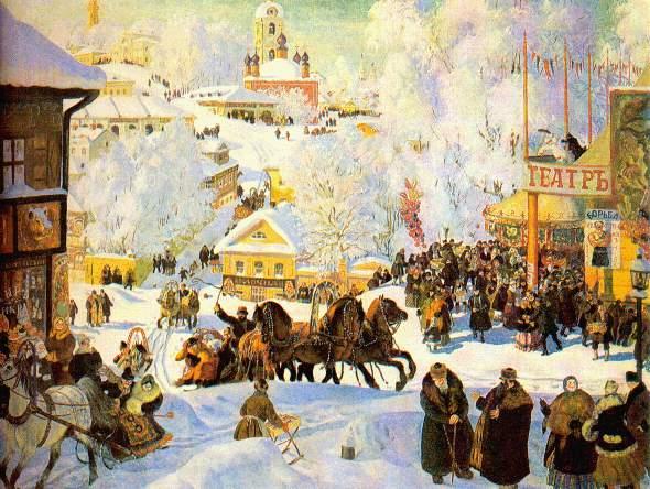 Ретро открытка Масленица - скачать бесплатно на otkrytkivsem.ru