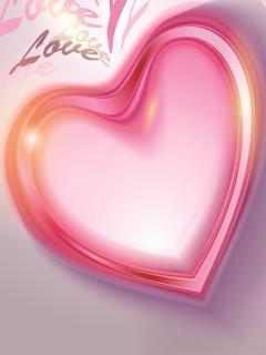 Розовое сердечко - скачать бесплатно на otkrytkivsem.ru
