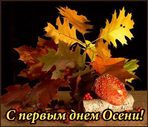 С первым днем Осени - скачать бесплатно на otkrytkivsem.ru