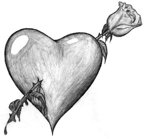 Сердечко картинка нарисованная - скачать бесплатно на otkrytkivsem.ru